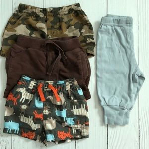 BOYS 0-3 MO 4 PC Shorts/Pants Bundle